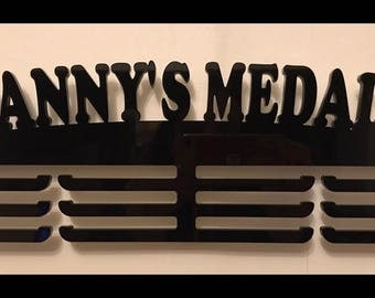 Personalised triple tier medal holder