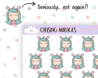 C206 | Annoyed planner sticker | Irritated planner sticker | Erin condren planner sticker | Cute bullet journal sticker