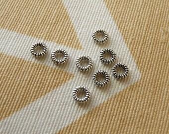Closed Jump Rings, 4.5mm Braided Jump Rings, Silver Tone Jump Rings, Beading Supplies
