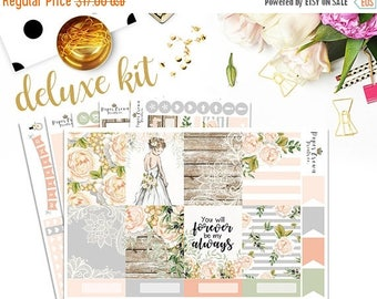 SALE/ FOREVER and ALWAYS Planner Stickers for use with Erin Condren Life Planner/Wedding Weekly Planner Sticker Kit/Anniversary Sticker Set