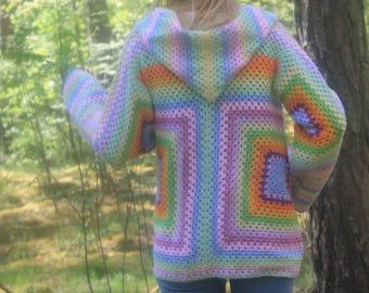 crochet summer cardigan/loose cardigan/hippi/Hand Knit cardigan/hooded jacket/summer coat/crochet jacket/hand knit jacket/summer cardigan