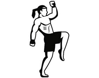 Karate Fighter Brazilian Jiu Jitsu Bjj Robe Gi Fight Fighting Fighter MMA Mixed Martial Arts Boxer Kickboxing Equipment.SVG .EPS Cut Cutting