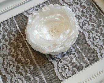 Bridal hair flower, Wedding Clip, Wedding Hair Accessories