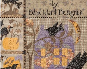 Raven, an autumn quilt of appliqué designs by Blackbird Designs,
