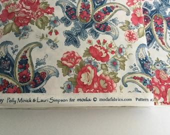 3 yards Clermont Farms - Moda - Polly Minick - Lauri Simpson - main fabric white paisley