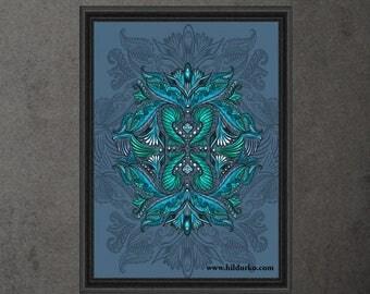 Raven of mirrors, Digital Print, Bohemian, INSTANT DOWNLOAD, Digital Download, Gallah Wall Art Digital