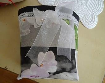 black imitation leather and fabric bag tidy zen