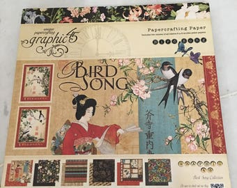 G45 - Retired Collection - Bird Song - 8  X  8 pad