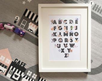 Animal Alphabet A4 Print