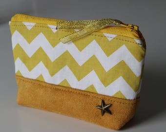 Wallet / Zig zag yellow card holder