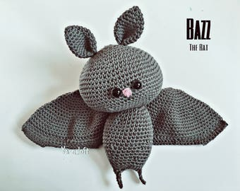 Bazz The Bat Amigurumi pattern (crochet pattern)