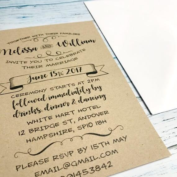 Wedding invitation rustic set, Kraft wedding invite suite, Boho wedding invite suite, DIY wedding invites suite, Wedding cards suite A5 | A6