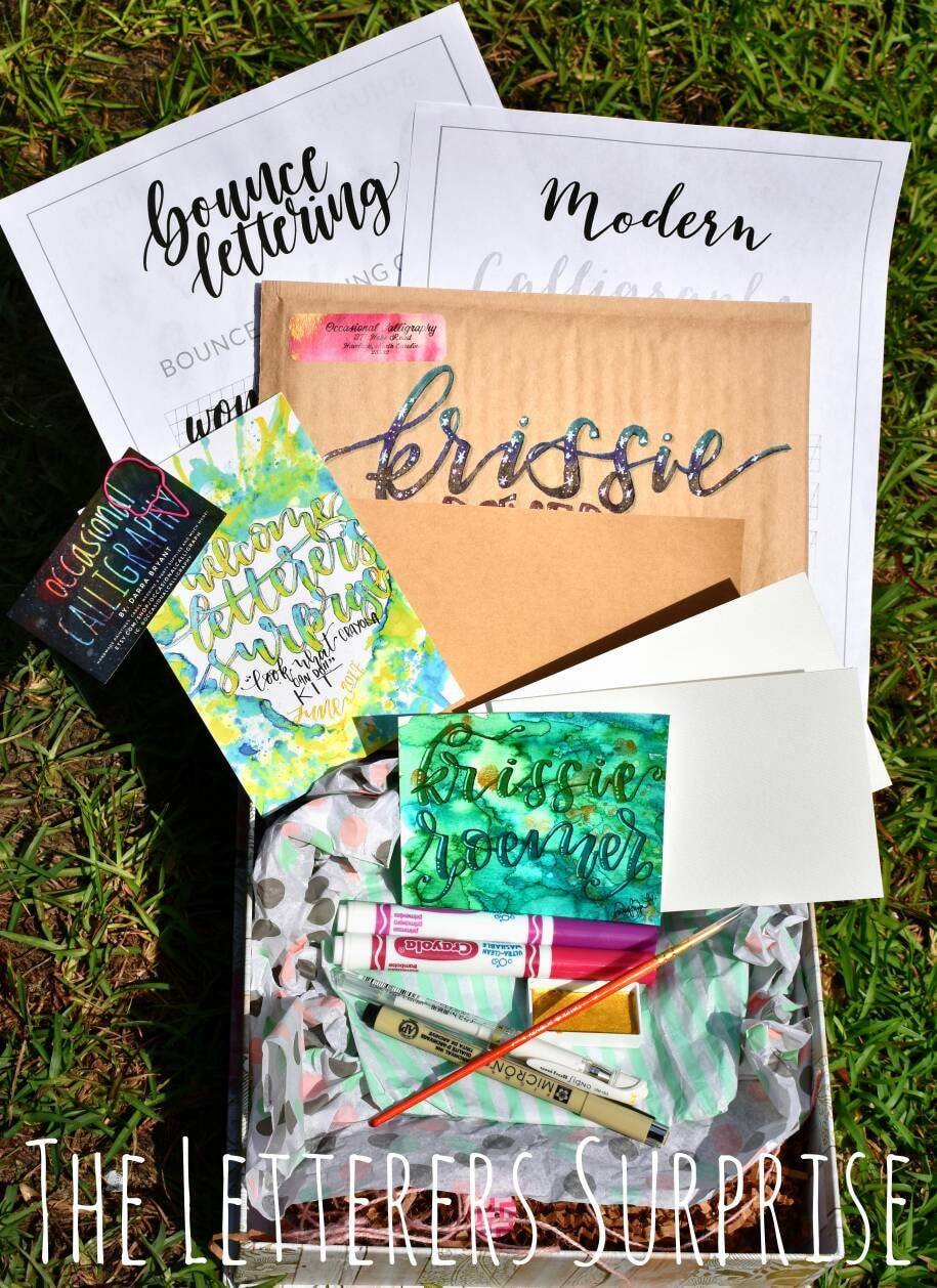 the letterers surprise monthly hand lettering