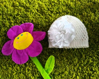 Knitted hat for Kids Kid's hat with Crochet flower