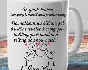 Fiancee Mug - From Fiance - Gift for Fiancee - Romantic Gifts for Her - Engagement Gifts - As your Fiance - Grow Old With Me - Couples Gifts