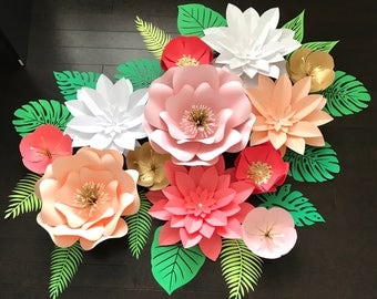 Large Paper Flower Backdrop/Tropical Backdrop ******Customize your Order*********