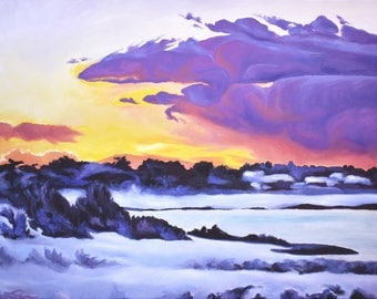 Sunrise on the Marsh, Limited Edition Print of Oil Painting