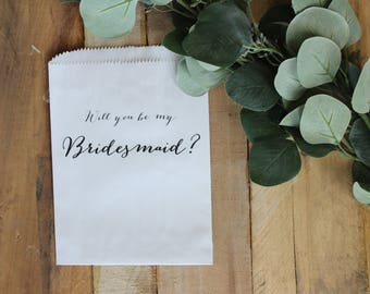 Will you be my bridesmaid?, Will you be my maid of honor?, Will you be my flower girl?, gift bag, wedding gift idea, wedding party gift