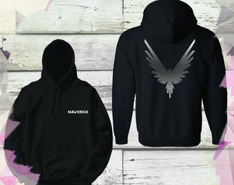 Silver Maverick Bird Kid youth Size Official Hoodie Unisex Team 10 Jake Paul JP best price Inspired by Log Youtuber celebrity youtube