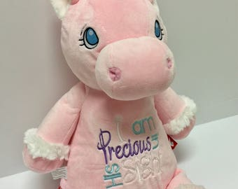 Cubbie; Embroidered Cubbie; Personalized Stuffed Animal; Monogram Cubbie; Monogram Stuffed Animal