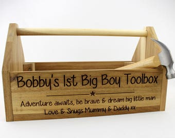 wooden tool box etsy. personalised wooden adult size childrens tool box, personalized kids birthday gift for box etsy s