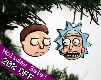 Rick and Morty Chirstmas ornament