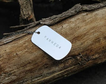 Clarke Griffin Wanheda - The 100 Dog Tag Necklace