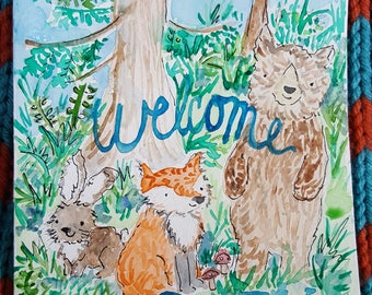 Welcome Baby Card (Watercolor)