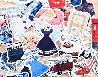 31 Pieces of Vintage Lifestyle Stickers