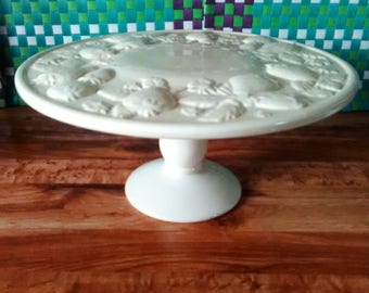 strawberry design pedestal dessert cake stand ceramic cake stand