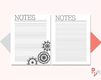 NOTES Big Happy Planner Printable Inserts, Create 365, Happy Planner Insert, Happy Planner Large Size, MAMBI Planner, Instant Download