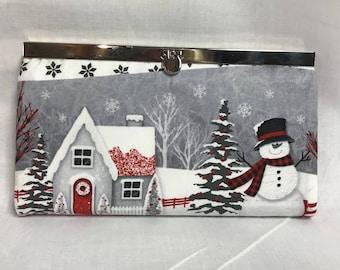 Snowman/Winter, Clutch Wallet, putse, change purse, phone wallet