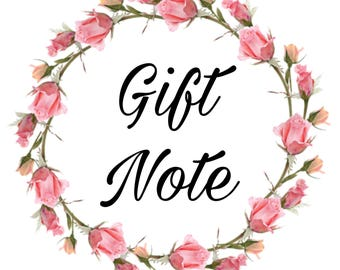 Gift Note Add on
