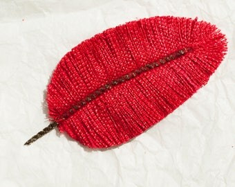 Scarlet Cardinal: Feather textile jewelry, accessories, decoration...