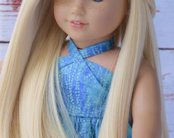 "11"" Custom Doll Wig fits 18"" Dolls American Girl Dolls Gotz Our Generation HEAT SAFE - Tangle Resistant - Blond JoJo Sigaw"