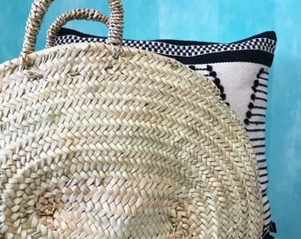 Big Oval Basket |Palm Leaf Basket |Palm Weaving |Market Basket |Summer Bag |Beach bag |Sac de Plage |Sac en Paille |StrohKorb |Eco Friendly
