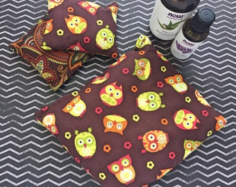 Therapeutic Rice Pack- 3 Piece Set Brown Owls