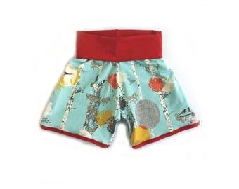 Crimson Forest Retro shorts // baby shorts // toddler shorts//shorties// flower shorts //