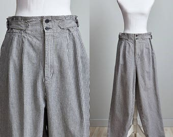 Vintage High Waisted Jeans, Calvin Klien Sport, Pin Striped Jeans