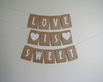 LOVE IS SWEET wedding banner