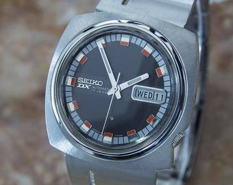 Seiko DX Rare Mens Automatic 1970s Japanese Made Stainless Steel Watch LA71