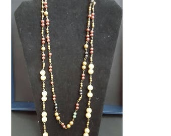 Goldtone Everyday Pearls Double Strand Necklace