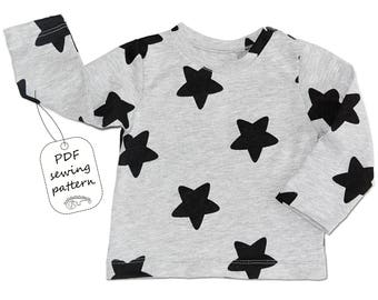 Baby t-shirt pattern PDF, baby sewing patterns