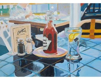 Ketchup: Acrylic Art Painting 18 x 24. FREE SHIPPING!