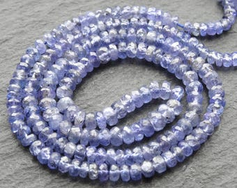 "Tanzanite cut rondelles, 3mm - 4.2mm, 17.5""/44cm string, 190 beads (3234)"