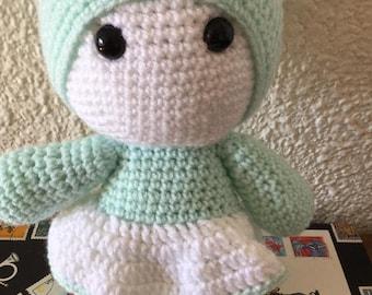 Plush Amigurumi crochet blanket