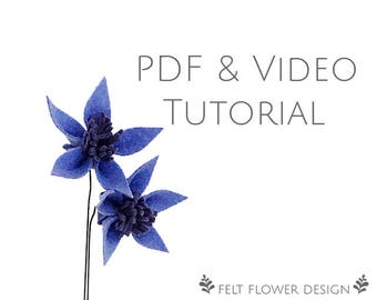 Flower tutorial - star flower - PDF tutorial - felt
