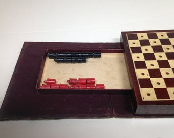 Vintage Checkers Game Disguised as a Book   (1247)