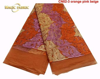 Classic Mixed Coloured Lace/ 5 yards lace