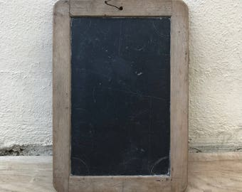 Vintage Childs blackboard,slate chalk board,old school french wood 17011831
